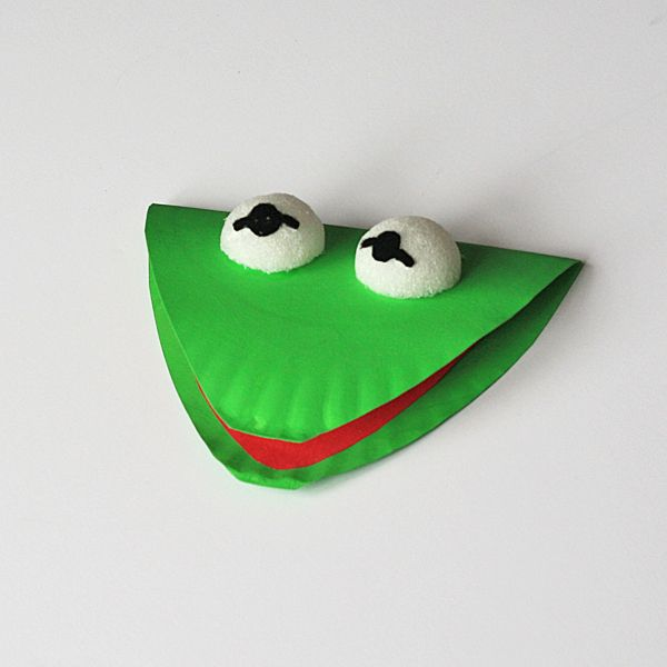 Paper Plate Kermit the Frog - Crafts by Amanda