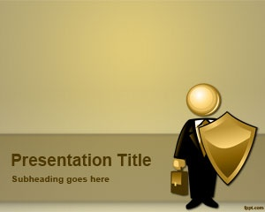 Broker Insurance PowerPoint Template is a free PowerPoint