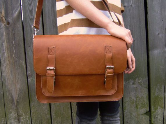 leather messenger bag  leather satchel handmade leather by Lemum, $54.00