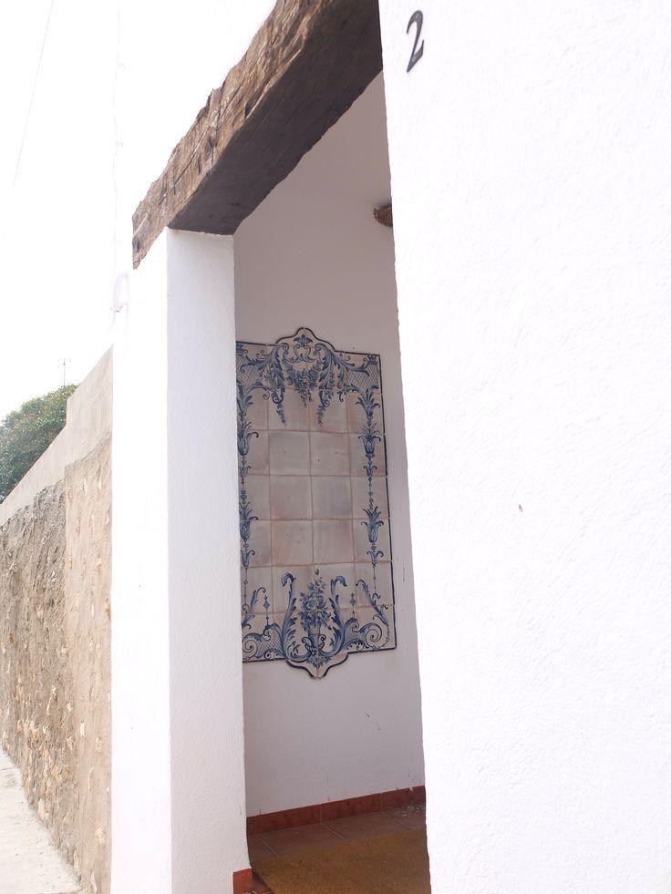 Mosaico en atrio de vivienda