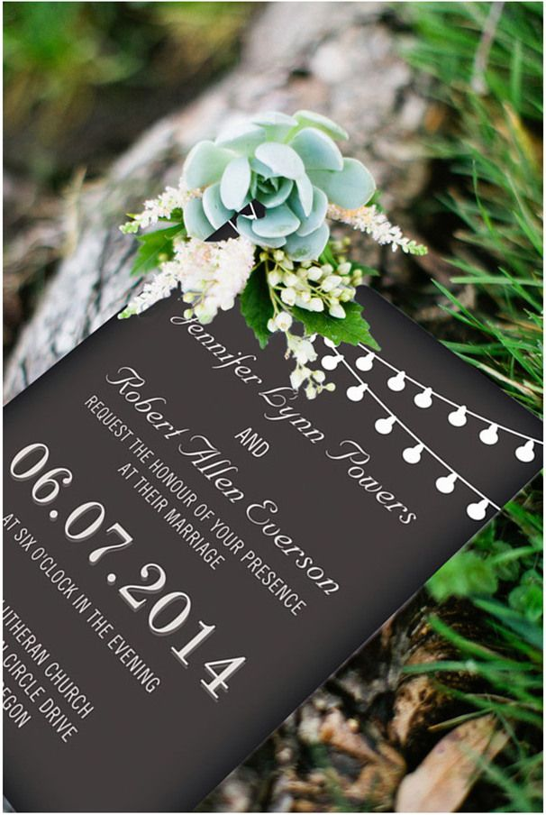 chic rustic chalkboard wedding invitations for backyard wedding ideas #rusticweddinginvitations