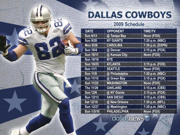 Dallas Cowboys Schedule HD Wallpaper