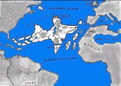 Inilah Misteri Benua Atlantis yang Mungkin ANDA belum TAHU  Legenda yang berkisah tentang Atlantis pertama kali ditemui dalam karangan filsafat Yunani kuno: Dua buah catatan dialog Plato (427-347 SM) yakni: buku Critias dan Timaeus. Pada buku Timaeus Plato berkisah: Di hadapan Selat Mainstay Haigelisi ada sebuah pulau yang sangat besar dari sana kalian dapat pergi ke pulau lainnya di depan pulau-pulau itu adalah seluruhnya daratan yang dikelilingi laut samudera itu adalah kerajaan Atlantis…