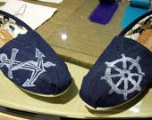 Nautical TOMS shoes