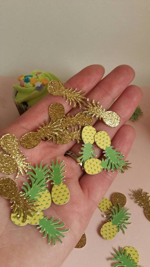 Pineapple party pineapple confetti Hawaiian luau Hawaiian