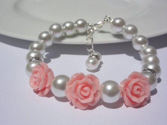 Flower girl Bracelet / Keepsake Jewelry / by StunningGemsJewelry
