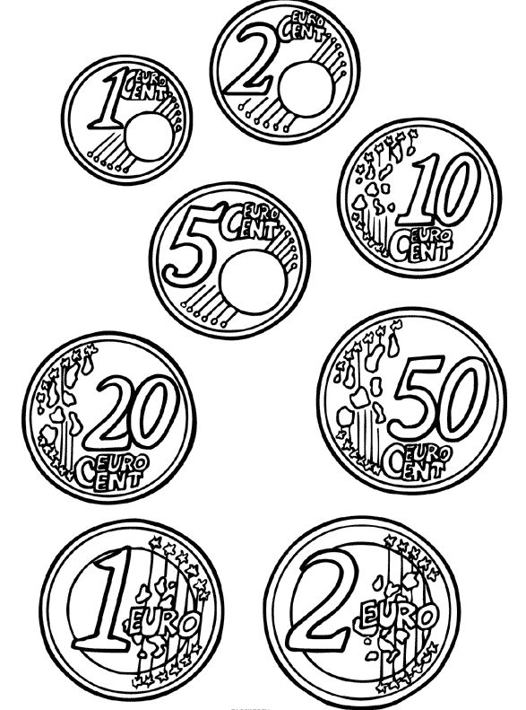 kleurplaten euro geld