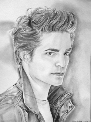 twilight coloring pages  Edward Cullen  Robert Pattinson