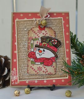 """High Hopes Stamps: """"Candy Cane Snowman"""" by Carolina using """"Candy Cane Snowman"""" (RR002)"""