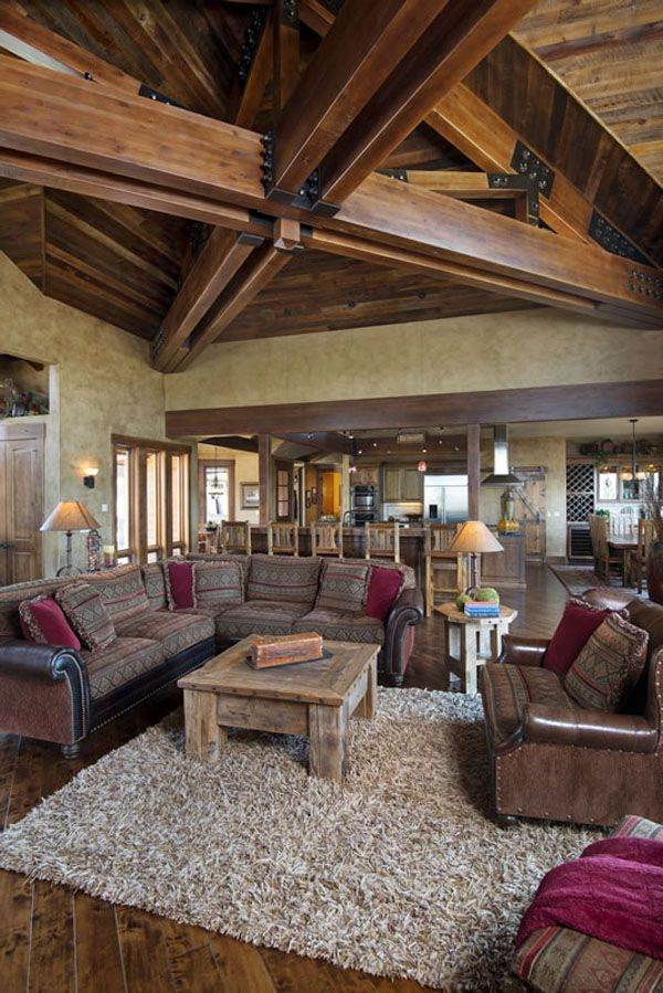 100 Best House  Living Room Images On Pinterest  Log Home Log Magnificent Living Room Wood Ceiling Design Design Ideas