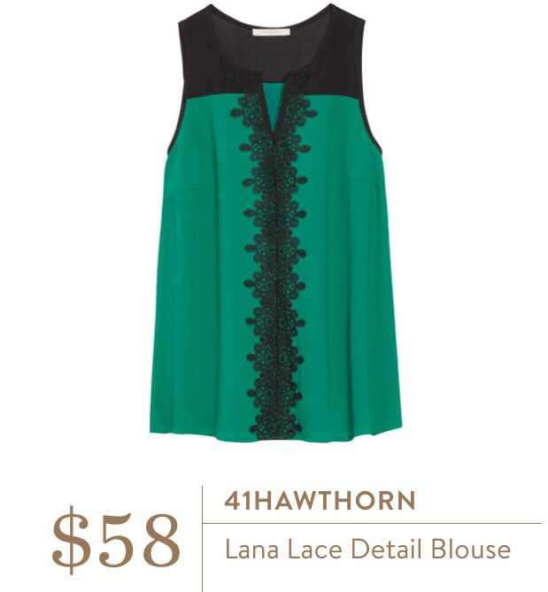 I love this blouse! Love the color, the lace and the overall style. Would love to see it in a fix! Feel free to use my referral link to try Stitch Fix today! https://www.stitchfix.com/referral/6364771