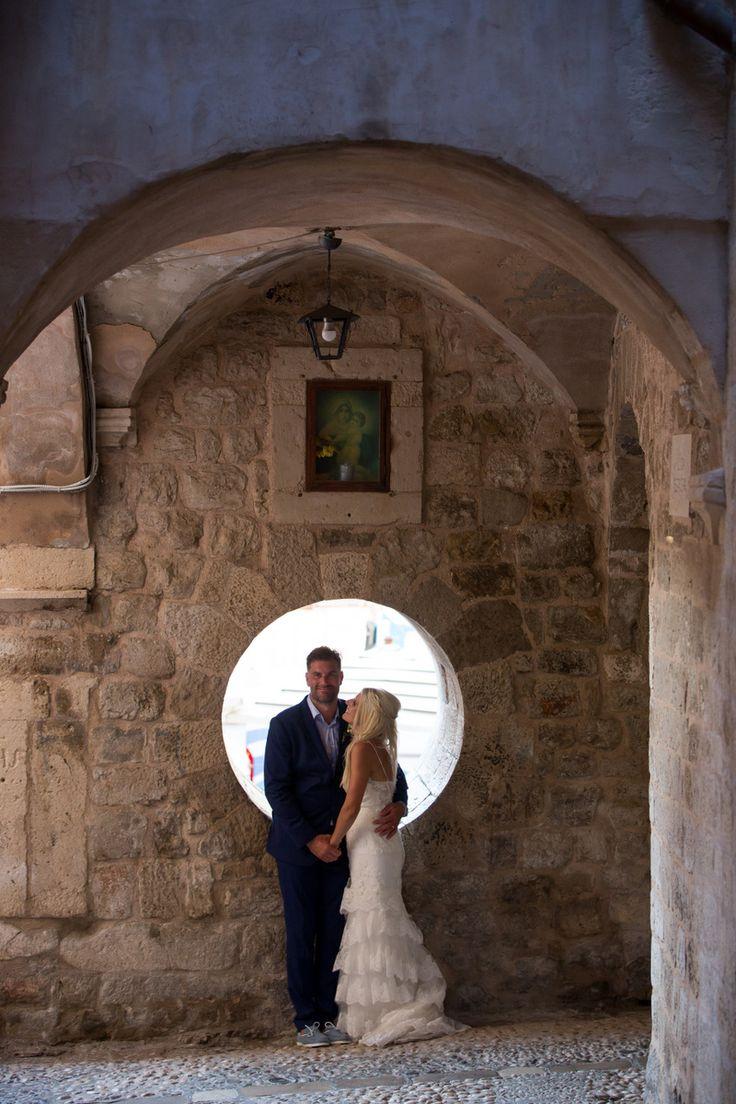 This gorgeous wedding took place in 2017 at the Elegant private terrace in Croatia. #destinationwedding #croatia #seaviewwedding #couple #romance