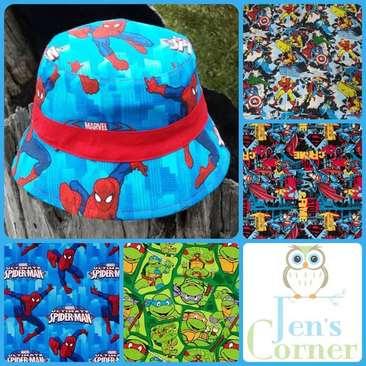 Handmade by Jen's Corner 2 X hat spots made from any of the pictured fabrics.