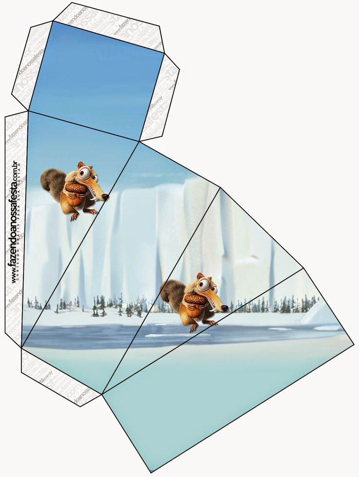 Ice Age: Free Printable Boxes.