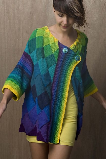 SPORT:  $9.00:  Ravelry: Art Deco Cardigan pattern by Helen Hamann    Holy cow this is gorgeous.  If I could do entrelac... or finish anything...: