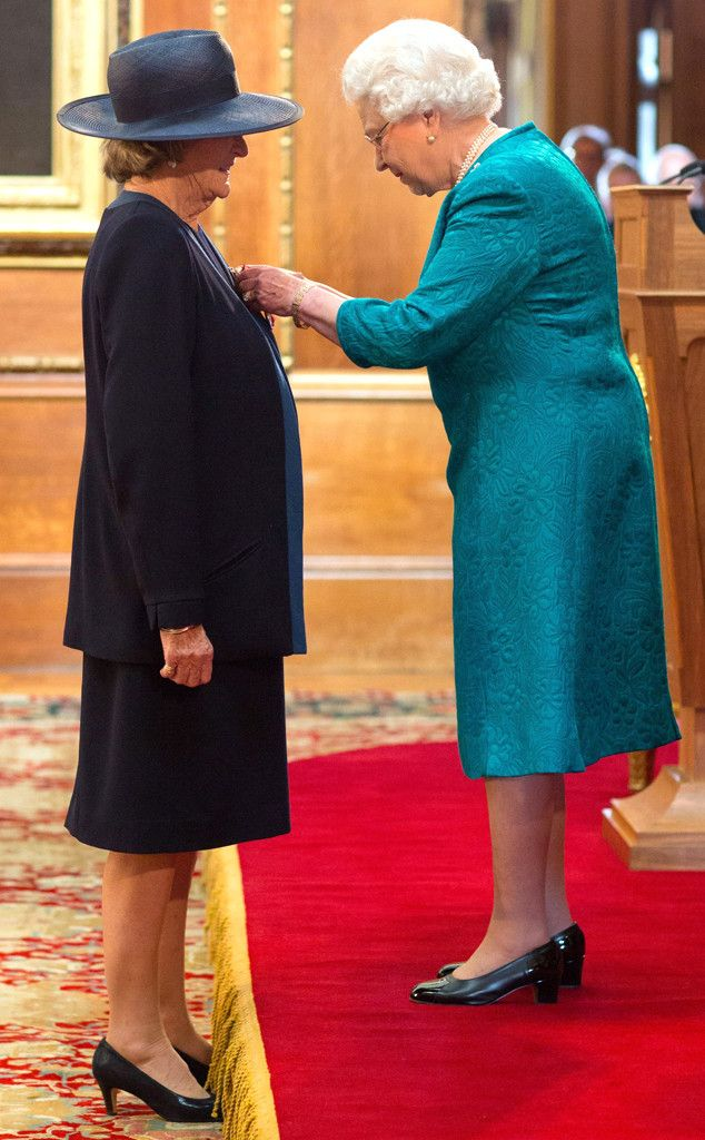 Maggie Smith, Downton Abbey Star, 79, Honored by Queen Elizabeth II—See the Photos!  Dame Maggie Smith, Queen Elizabeth II