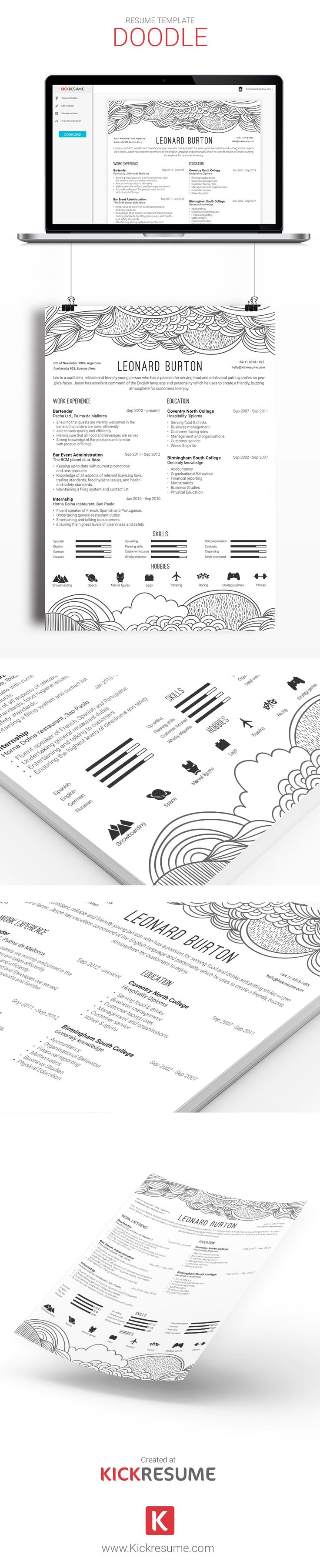 18 best Kickresume Templates Gallery Resume samples Resume