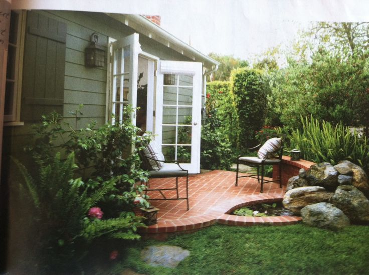 Small brick patio (Country Almanac Small Room Decorating Fall 2012)