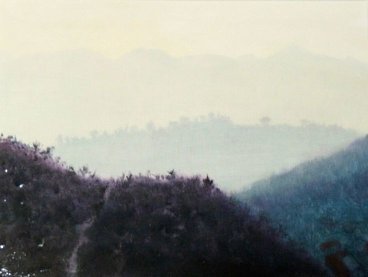 China Winter original oil painting by Karen Tomlinson 9x13