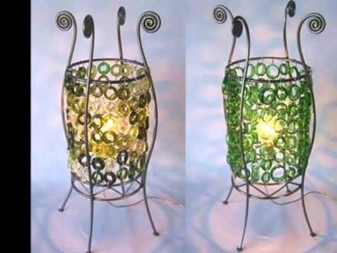 Lámpara realizada reciclando 45 garrafas de plástico - Lamp made out of 45 recycled plastic bottles - YouTube