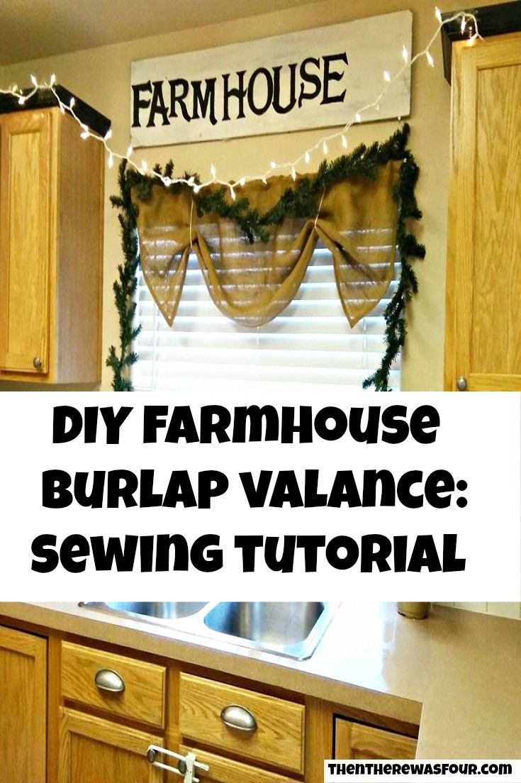 burlap valance diy farmhouse decor is beatiful but sometimes buying the decor can be
