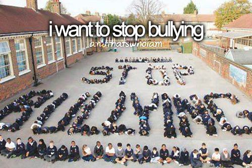 That's who I am. I don't believe in bullying or teaching kids to bully. I believe in being an example to my kid.