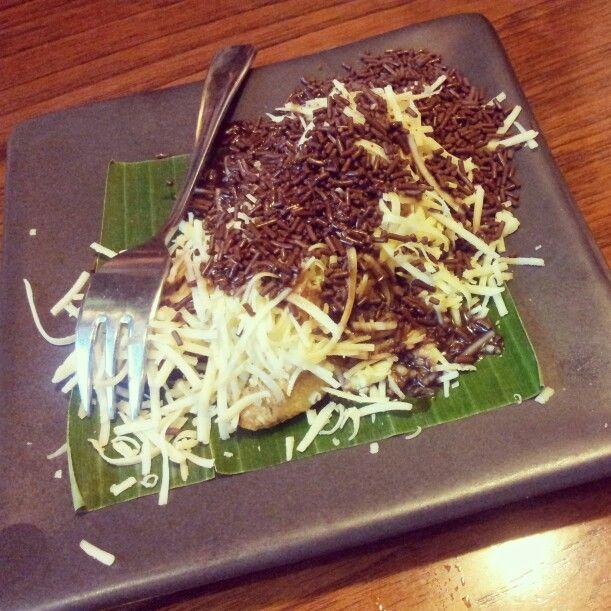 Indonesian dessert called permented casava.