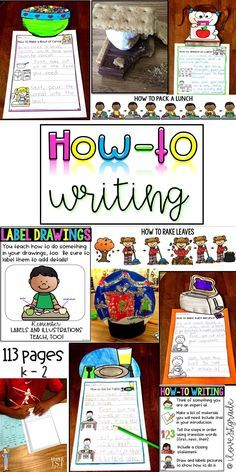 113 pages of how-to/procedural writing. This pack includes lesson plans, anchor charts, 9 writing pages with pictures included where students just add their own writing and the topper, 11 writing strips that can be used in a variety of ways,11 pages with