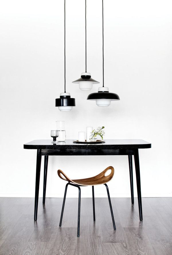 Left: Lento One Pendant Lamp \\\ Middle: Lento Two Pendant Lamp \\\ Right: Lento Three Pendant Lamp