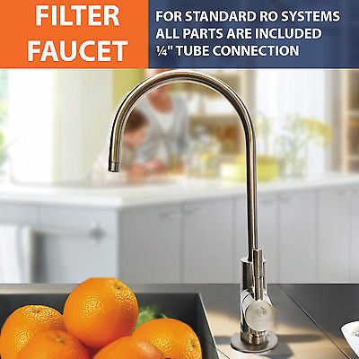 Brushed-Nickel-Euro-Designer-RO-Water-Faucet-For-Any-RO-Unit-FREE-SHIPPING