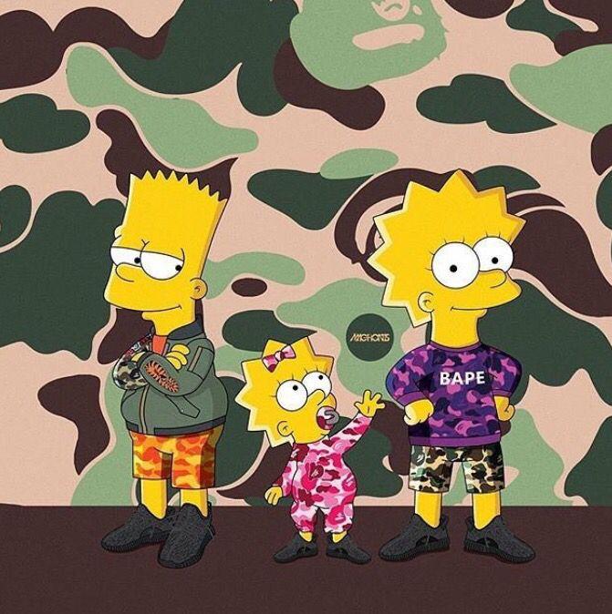 Bart, Lisa & Maggie