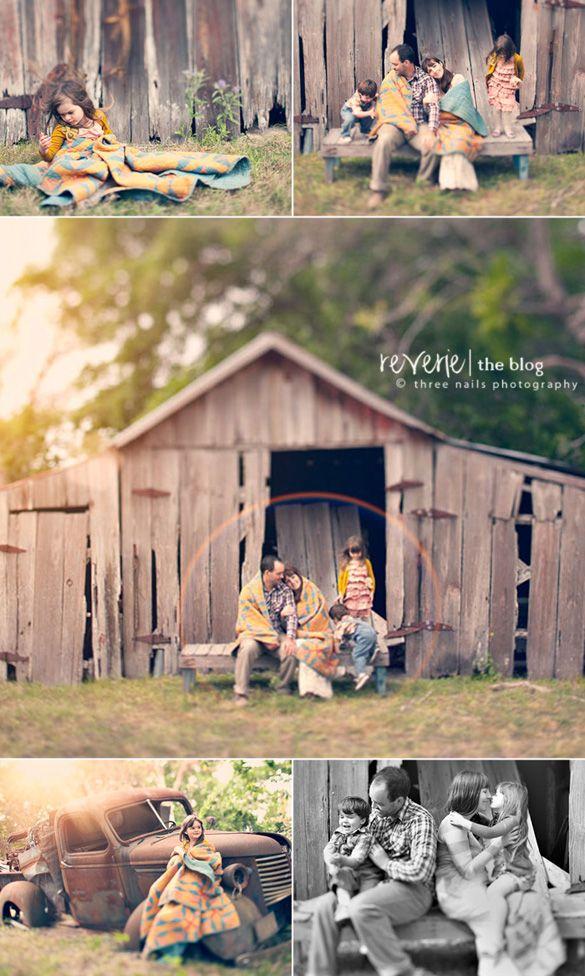 Family | Barn    See more on the Reverie Blog for child photographers: http://www.reveriemine.com #reverie
