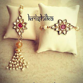 #couplerakhi #rakhicollection2017 #krishika  #rachnatmakrakhi  #rachnatmak  #rakhi #kundan