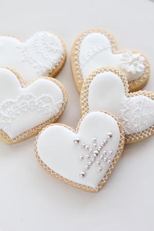 ウェディングに白いハートのアイシングクッキー | シュガークラフトとケーキデコレーション・アイシングクッキーsugarmammyのブログ
