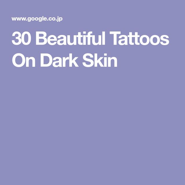 30 Beautiful Tattoos On Dark Skin