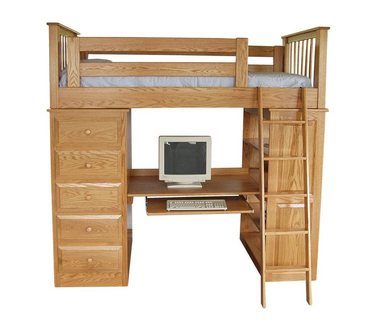 153 best loft bed with desk underneath images on pinterest 3 4 beds lofted beds and adult. Black Bedroom Furniture Sets. Home Design Ideas
