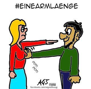 Dopo i clamorosi fatti di #Colonia la sindaco Henriette Reker consiglia alle donne di tenere gli estranei a distanza di un braccio (#einearmlaenge). E se l'estraneo avesse le braccia più lunghe?