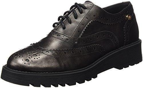 Oferta: 46.95€ Dto: -40%. Comprar Ofertas de XTI Sra Metalizado, Zapatos de Cordones Oxford para Mujer, Plateado (Plomo), 38 EU barato. ¡Mira las ofertas!