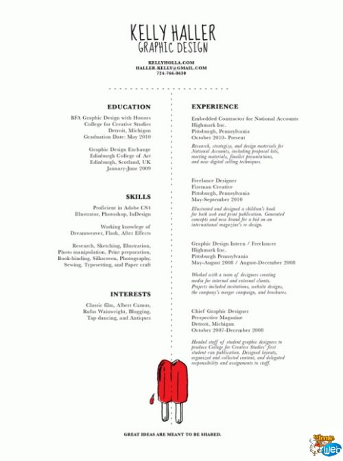 21 Best Well-Designed Resumes Images On Pinterest | Resume Cv