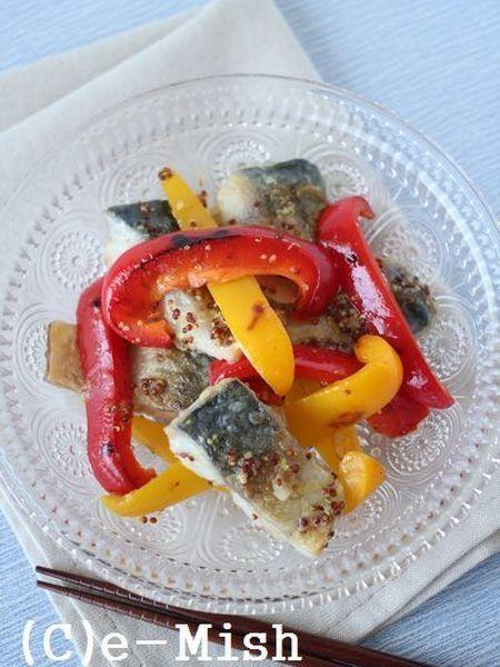 6.焼きパプリカと鯖のマリネ