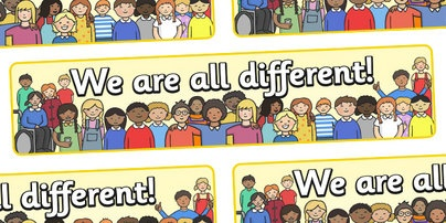 We Are All Different Display Banner - we are all different, banner, bullying, diversity, discrimination, behaviour, display banner, acceptance, differences