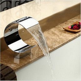 2016 bathroom faucets for bathtub Big C shape Waterfall Spout For Basin & Bathtub Deck Mount