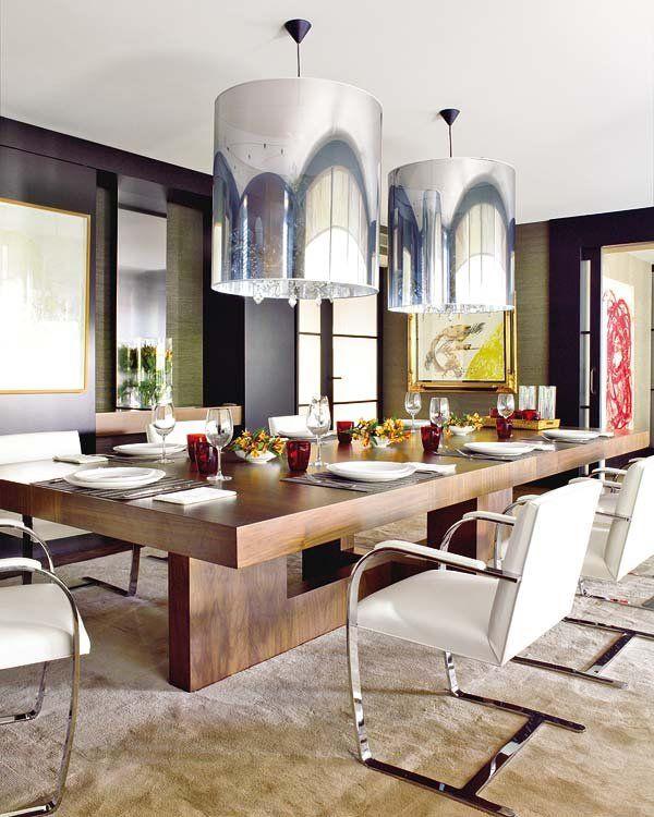 Las 25 mejores ideas sobre living comedor moderno en for Mesas de living