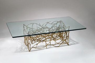 Silas Seandel Bronze Lace Coffee Table - Eclectic - Coffee Tables ...