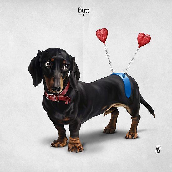 Butt art | decor | wall art | inspiration | animals | home decor | idea | humor | gifts