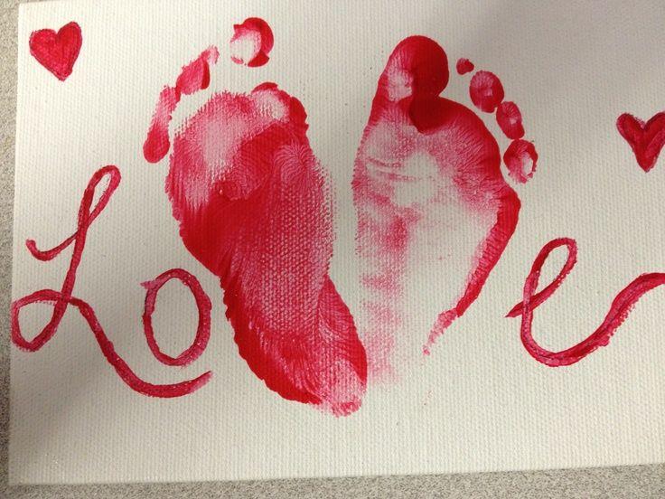 valentine's day crafts for kindergarten | First Valentines day baby craft #babycrafts ... | crafts for preschoo ...