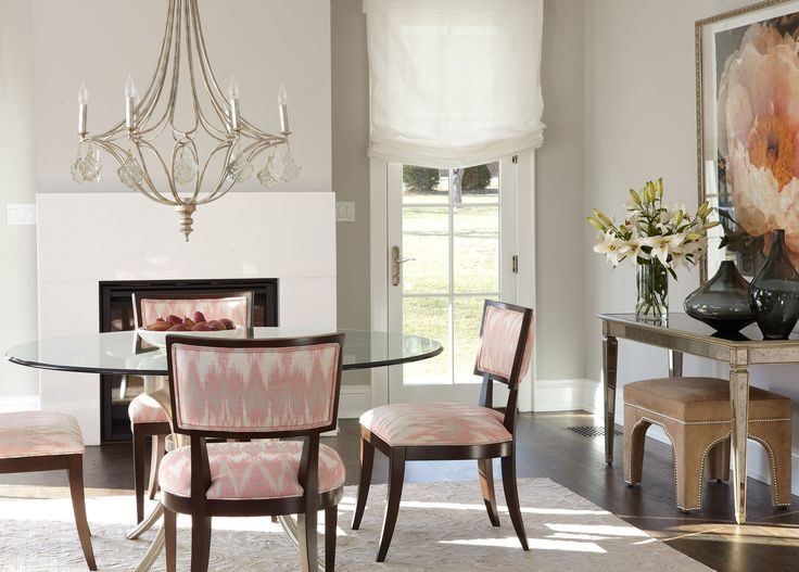 Incito Coral Fabric Looks Great On Our Adrian Side Chairs Customize Your Home At The Ethan Allen Of Orland Park IL