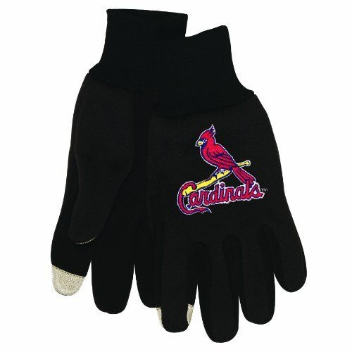 MLB St. Louis Cardinals Technology Touch Gloves by McArthur. $8.30. Form fitting. Special touch reactive material on thumb and forefinger send electrical impulses to the touchscreen.. Use devices without removing gloves. Jersey knit material with team embroidery. 100% Polyester. Officially licensed technology gloves. Use your touchscreen device without removing your gloves! Special touch reactive material on thumb and forefinger sends electrical impulses to any touchscreen de...
