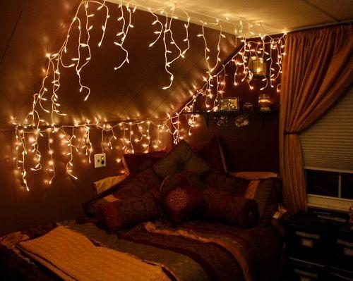 Best Icicle Lights Bedroom Ideas On Pinterest White Lights - Icicle lights in bedroom