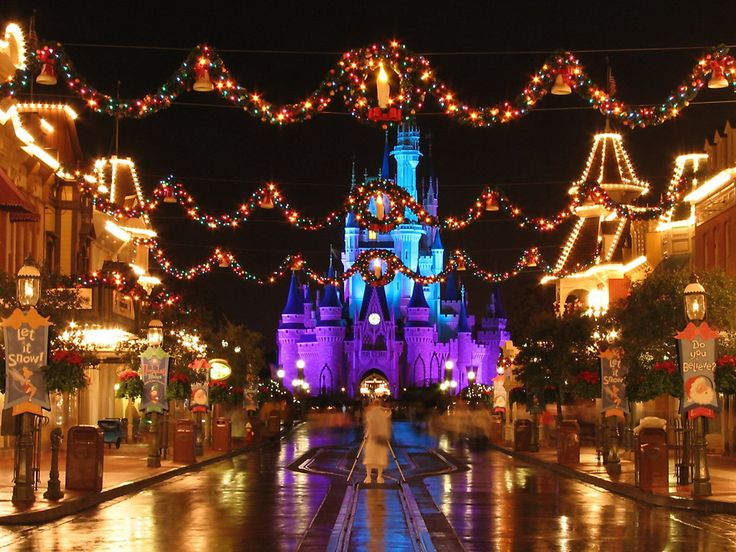 disney world main street christmas at night everything disney pinterest main street walt disney and disney christmas - Disney World Christmas Lights